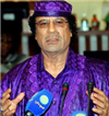 Libyan Leader Gaddafi visits Russia on arms, energy drive
