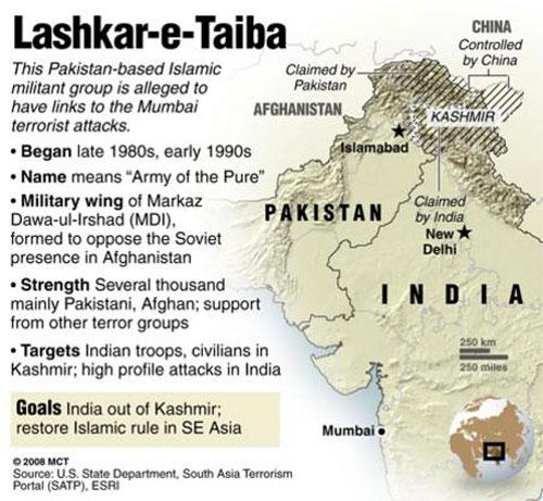 LashkareTaiba And The Indian Mujahideen The Face Of Jihad In - Terrorist training camps in us map